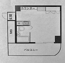 ジェイラム横濱[201号室]の間取り