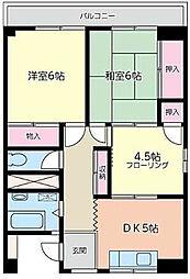 神奈川県横浜市鶴見区北寺尾5丁目の賃貸マンションの間取り