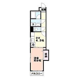 レジデンスヤマガタ[2階]の間取り