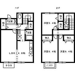 グランソレイユB[1階]の間取り