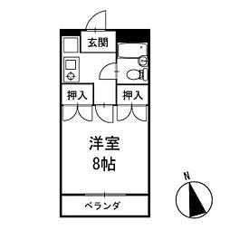 マンション神尾 2階[204号室]の間取り