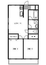 シャレーヴァンテアン[1階]の間取り