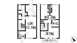 [テラスハウス] 兵庫県伊丹市瑞穂町3丁目 の賃貸【/】の間取り