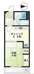 朝倉コーポ[2階]の間取り