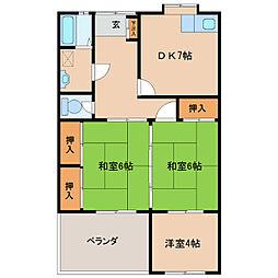 ひばり荘[8号室]の間取り