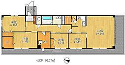 コボリマンション北野[4階]の間取り