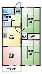 中津サンハイツ[2階]の間取り