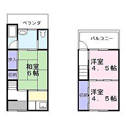 [一戸建] 大阪府大東市灰塚6丁目 の賃貸【/】の間取り