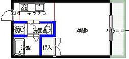 ヴェール岡崎3[302号室号室]の間取り