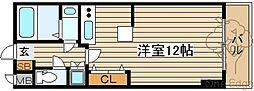 カスタリア新梅田[4階]の間取り