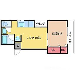 大平マンション[2階]の間取り