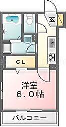 コナミ[2階]の間取り