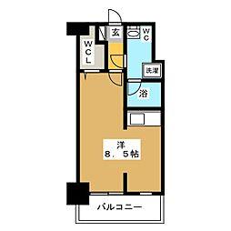 ラファセ箱崎[8階]の間取り