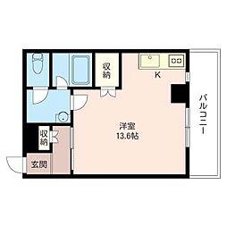 田那村ビル[4階]の間取り