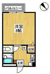 リビン[2階]の間取り