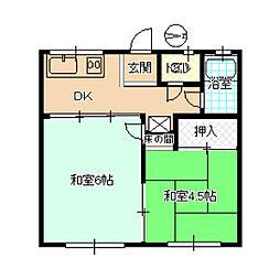 三組ハウス[F号室]の間取り