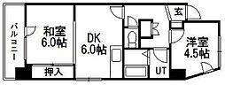 北海道札幌市中央区南十三条西7丁目の賃貸マンションの間取り