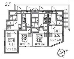 コンフォルタ桜台[204号室]の間取り