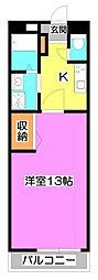 コーポ富士美[1階]の間取り