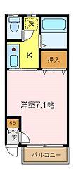 コーポ熊谷[102号室]の間取り