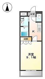静岡県伊豆の国市原木の賃貸アパートの間取り