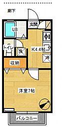 ハイツ舩木II[103号室号室]の間取り