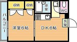 Kays roomsIInd(ケイズルームセカンド)[3階]の間取り
