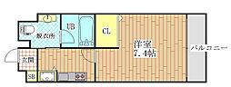 アクロス大日アパートメントII[102号室]の間取り