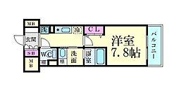 名古屋市営東山線 新栄町駅 徒歩8分の賃貸マンション 3階1Kの間取り