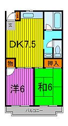 クレセントトオヤマ[2階]の間取り