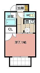 メヌエット舞鶴[301号室]の間取り