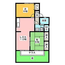 セジュール諏訪  A棟[1階]の間取り