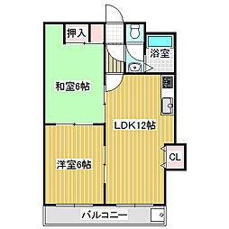 愛知県名古屋市中川区中郷1丁目の賃貸マンションの間取り