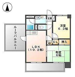 南山第3スカイハイツ[4階]の間取り