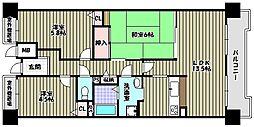 グリーンコーポ富田林[5階]の間取り
