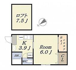 NON-STYLE[2階]の間取り