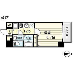 エスライズ東本町[14階]の間取り