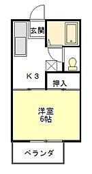 ドミトリー小川93[2階]の間取り