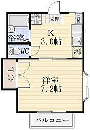ファミーユ志田[202号室]の間取り