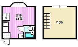 マイライムII[1階]の間取り