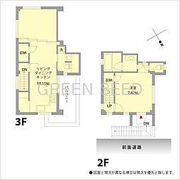 Villa Jin 3階2LDKの間取り