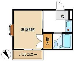 コーポサンライズ 206[2階]の間取り