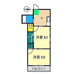 当田ハイツ[2階]の間取り