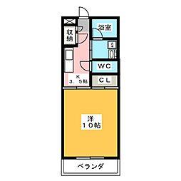 メゾンドMJ[2階]の間取り