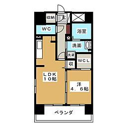 シェソワ東桜[5階]の間取り