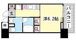 レジディア神戸元町通[11階]の間取り