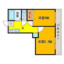 Eビルディング[3階]の間取り
