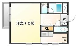 K−フラット[2階]の間取り