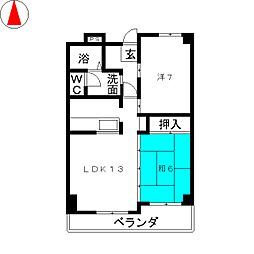 江崎ビル[3階]の間取り