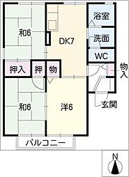 リバーサイド7[2階]の間取り